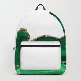 Emerald Green Malachite Agate gold Foil Backpack