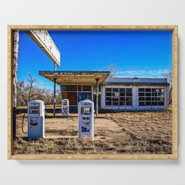 Abandoned Gas Station Serving Tray