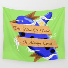The Flow of Time is Always Cruel Wall Tapestry