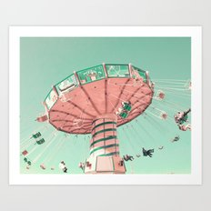 Pastel Flight Art Print