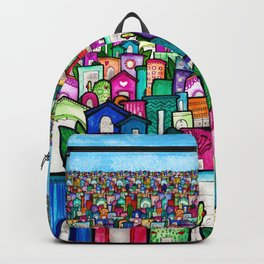 Happy little houses Backpack