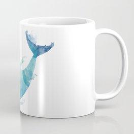Watercolor playing Dolphin Coffee Mug