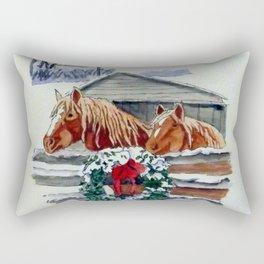 Christmas Ponies Rectangular Pillow