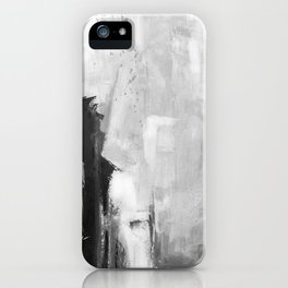 Black white abstract iPhone Case