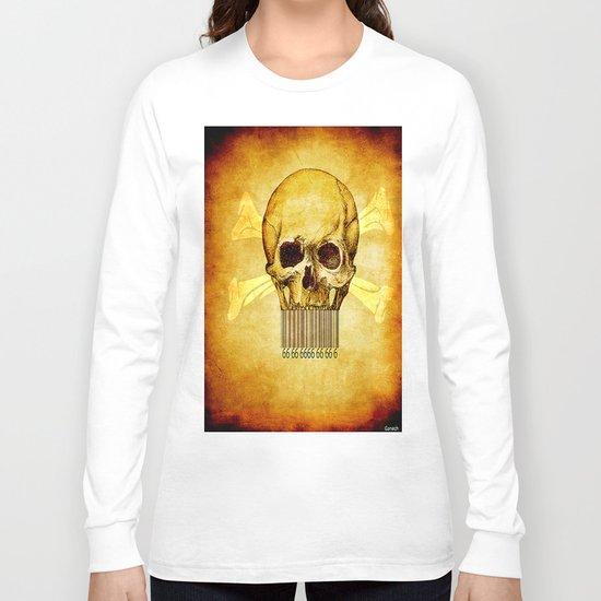 Skeleton bar codes Long Sleeve T-shirt