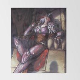 Warchief Sylvanas Throw Blanket