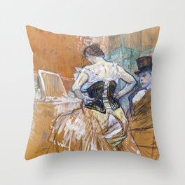 Henri Toulouse Lautrec / Augustins - Conquête de passage 1896 Throw Pillow