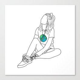 Girl Contemplates World Canvas Print
