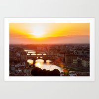 florence Art Prints featuring Florence by Wei Wong