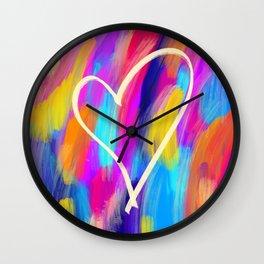 Brushed Heart Wall Clock