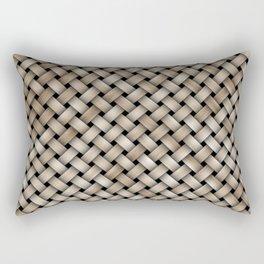 Wooden woven texture Rectangular Pillow