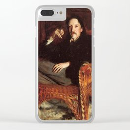 Vintage Painting of Robert Louis Stevenson (1887) Clear iPhone Case