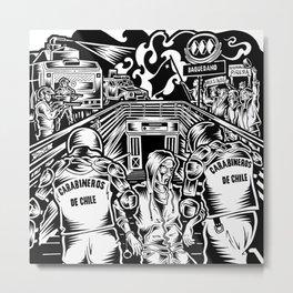 Metro Baquedano Metal Print