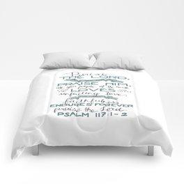 Psalm 117: 1-2 Comforters