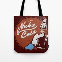 fallout Tote Bags featuring Nuka Cola Fallout drink by Krakenspirit