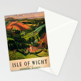 retro Isle of Wight old psoter Stationery Cards