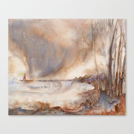 Charlevoix Pier Lighthouse Canvas Print