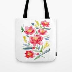 Floral Watercolor Tote Bag