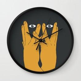 Hands mask Wall Clock