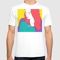 FIONA APPLE MEDIUM White Mens Fitted Tee