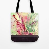 champagne Tote Bags featuring Champagne by Vinn Wong - Original Abstract Art