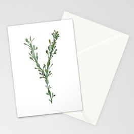 Green Seaweed Watercolor No. 3 Stationery Cards