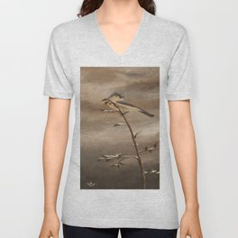 A Lonely Lady Tuft Unisex V-Neck