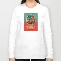 vonnegut Long Sleeve T-shirts featuring Breakfast of Champions by Troy DeRose