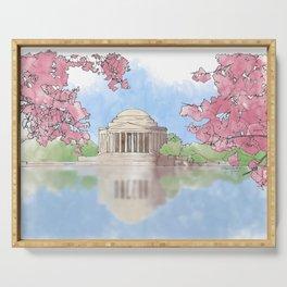 Cherry Blossom - Jefferson Memorial Serving Tray