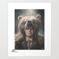 dwight Art Prints featuring Dwight Schrute by Sam Spratt