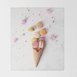 Macaron Cone Throw Blanket