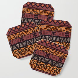Tribal ethnic geometric pattern 021 Coaster