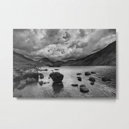 Wastwater with dramatic clouds Metal Print