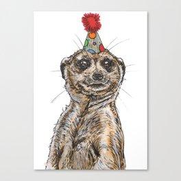 Meerkat Party Canvas Print