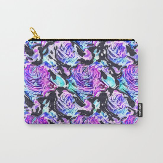 Abstract Roses (dark) Carry-All Pouch