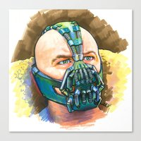 bane Canvas Prints featuring Bane by Illusoryart