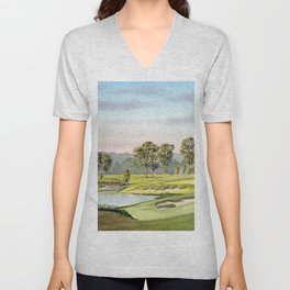 Fallen Oak Golf Course Mississippi Unisex V-Neck