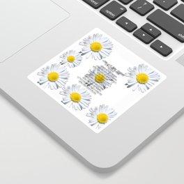 Daisy Flower with Christian Faith Base Poem Sticker