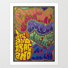 Dust and Drag Art Print