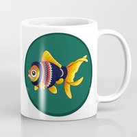 johnlock Mugs featuring Johnlock goldfish by WhoGroovesOn