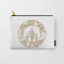 Cactus Desert Nights Gold Carry-All Pouch