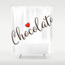Chocolate Love Shower Curtain