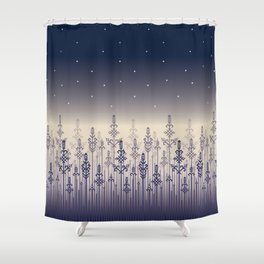 Dark Field Shower Curtain