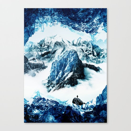 Frozen isolation Canvas Print