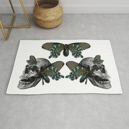 Butterflies on Skulls #1 Rug