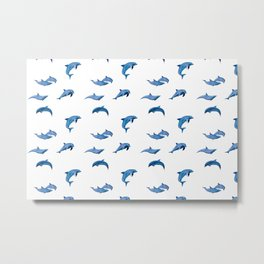 Dolphins pattern  Metal Print