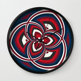 Spiral Rose Pattern A 1/4 Wall Clock