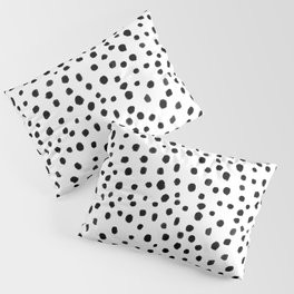 Modern Polka Dot Hand Painted Pattern Pillow Sham