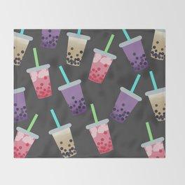 Bubble Tea Party Throw Blanket