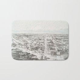 Vintage Pictorial Map of Buffalo NY (1853) Bath Mat